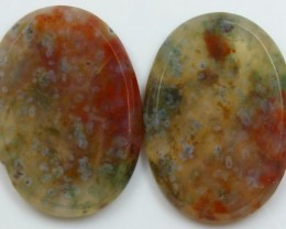 33.80 CTS AGATE PAIR POLISHED STONES GREAT RANGE IN STORE
