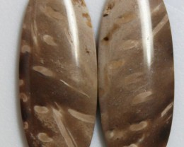 8.35 CTS JASPER PAIR POLISHED STONES GREAT RANGE IN STORE