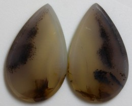 18.65 CTS AGATE PAIR POLISHED STONES GREAT RANGE IN STORE