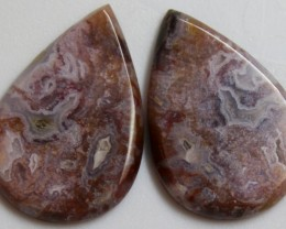 30.75 CTS AGATE PAIR POLISHED STONES GREAT RANGE IN STORE