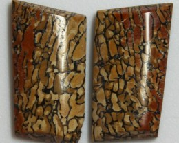 19.35 CTS JASPER PAIR POLISHED STONES GREAT RANGE IN STORE