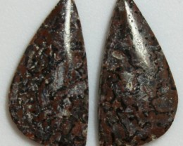 6.60 CTS JASPER PAIR POLISHED STONES GREAT RANGE IN STORE