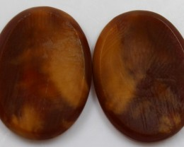 36.60 CTS JASPER PAIR POLISHED STONES GREAT RANGE IN STORE