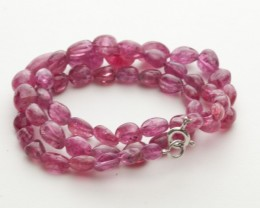 122ct Pink Spinel Bead Strands Silver Clasp (B49V1-3)