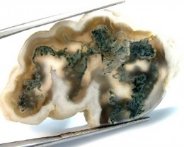MOSS AGATE DRILLED PENDANT  45  CTS NP-93