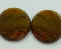 21.80 CTS JASPER PAIR POLISHED STONES GREAT RANGE IN STORE
