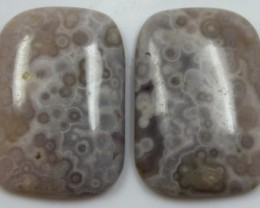 39.40 CTS JASPER PAIR POLISHED STONES GREAT RANGE IN STORE