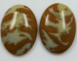 31.25 CTS JASPER PAIR POLISHED STONES GREAT RANGE IN STORE