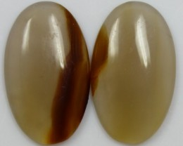 15.70 CTS JASPER PAIR POLISHED STONES GREAT RANGE IN STORE