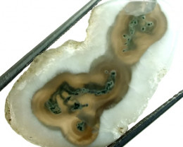 29.5  CTS MOSS AGATE DRILLED PENDANT  NP-105