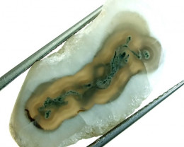 30.5  CTS MOSS AGATE DRILLED PENDANT   NP-106