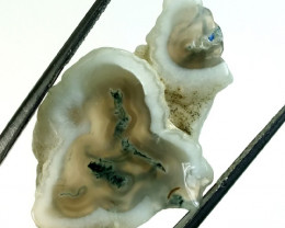 23.5  CTS  MOSS AGATE DRILLED PENDANT  NP-108