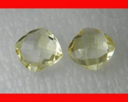 10mm VVS Natural Brazil Faceted Citrine Pair Z1038