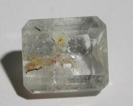 10.15ct OCTAGON FACETED COLORLESS TOPAZ WITH LODOLITE INCLUSIONS