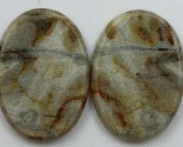26.60 CTS JASPER PAIR POLISHED STONES GREAT RANGE IN STORE