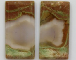 9.70 CTS JASPER PAIR POLISHED STONES GREAT RANGE IN STORE