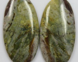 30.90 CTS JASPER PAIR POLISHED STONES GREAT RANGE IN STORE