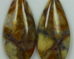 14.65 CTS JASPER PAIR POLISHED STONES GREAT RANGE IN STORE