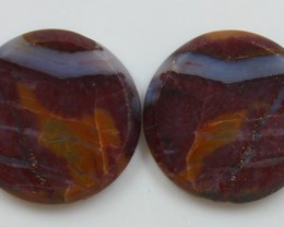 18.40 CTS JASPER PAIR POLISHED STONES GREAT RANGE IN STORE
