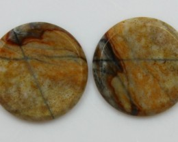 12.10 CTS JASPER PAIR POLISHED STONES GREAT RANGE IN STORE