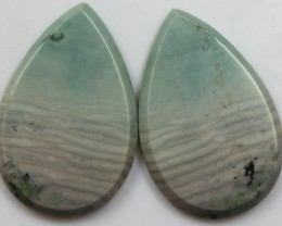 33.25 CTS JASPER PAIR POLISHED STONES GREAT RANGE IN STORE