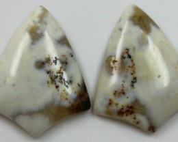 20.55 CTS JASPER PAIR POLISHED STONES GREAT RANGE IN STORE