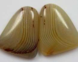 17.25 CTS agate PAIR POLISHED STONES GREAT RANGE IN STORE