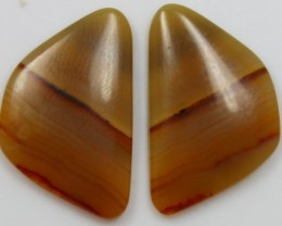 14.55 CTS AGATE PAIR POLISHED STONES GREAT RANGE IN STORE