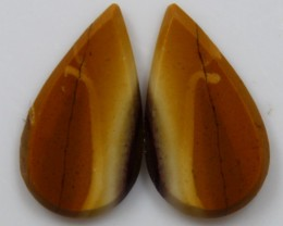 7.70 CTS JASPER PAIR POLISHED STONES GREAT RANGE IN STORE