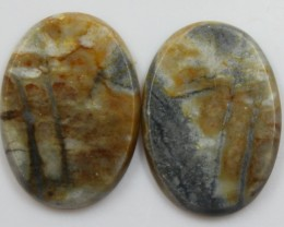 26.40 CTS JASPER PAIR POLISHED STONES GREAT RANGE IN STORE