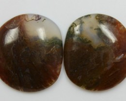 33.70 CTS JASPER PAIR POLISHED STONES GREAT RANGE IN STORE