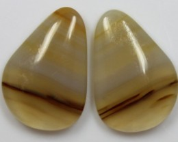 17.40  CTS AGATE PAIR POLISHED STONES GREAT RANGE IN STORE