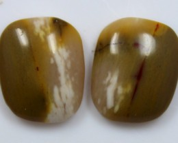 12.90 CTS JASPER PAIR POLISHED STONES GREAT RANGE IN STORE