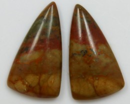 12.55 CTS JASPER PAIR POLISHED STONES GREAT RANGE IN STORE