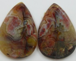 29.20 CTS JASPER PAIR POLISHED STONES GREAT RANGE IN STORE