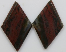 8.05 CTS JASPER PAIR POLISHED STONES GREAT RANGE IN STORE