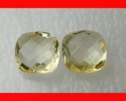 10mm VVS Natural Brazil Faceted Citrine Pair Z1045