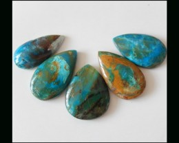 51.8 Ct Jewelry Design Material Blue Opal Teardrop Cabochons