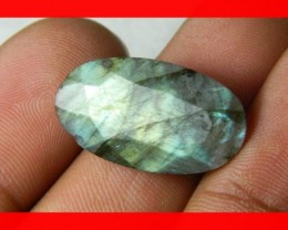 12cts AAA+ Labradorite Faceted Stone Z1074