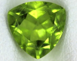 PERIDOT FACETED STONE  1.25  CTS    SG -1674