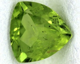 PERIDOT FACETED STONE  1.25  CTS    SG -1694