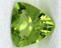 PERIDOT FACETED STONE  0.85  CTS    SG -1695