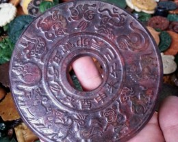 FROM A COLLECTION OLD JADE CARVING BI ZODIAC 120mm