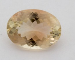 3.8ct Oregon Sunstone, Champagne/Pink Oval (S1232)