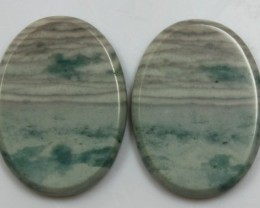 32.20 CTS JASPER PAIR POLISHED STONES GREAT RANGE IN STORE