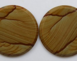 32.15 CTS JASPER PAIR POLISHED STONES GREAT RANGE IN STORE