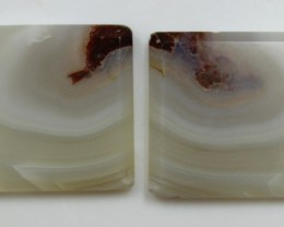 29.05 CTS AGATE PAIR POLISHED STONES GREAT RANGE IN STORE