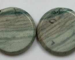 20.50 CTS JASPER PAIR POLISHED STONES GREAT RANGE IN STORE