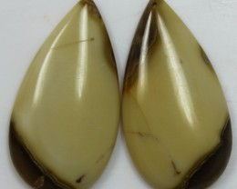 30.60 CTS JASPER PAIR POLISHED STONES GREAT RANGE IN STORE