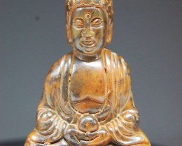 FROM A COLLECTION NICE JADE CARVING BUDDHA